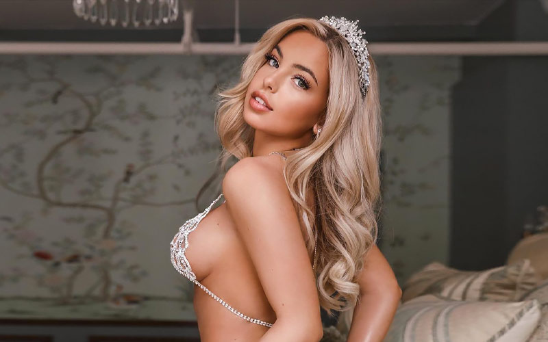 beautiful russian woman in crown