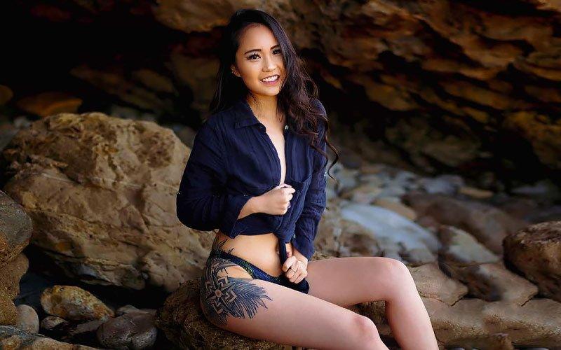 pretty chinese girl in shirt